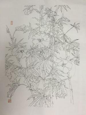 花繁叶茂(工笔画)